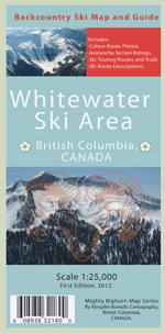 whitewater backcountry ski touring map