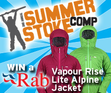 backcountry skiing canada summer stoke comp rab vapour rise alpine lite jacket