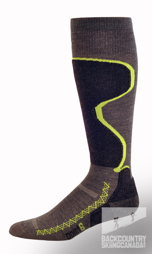 Point 6 Ski Pro Light Cushion Starburst Sock