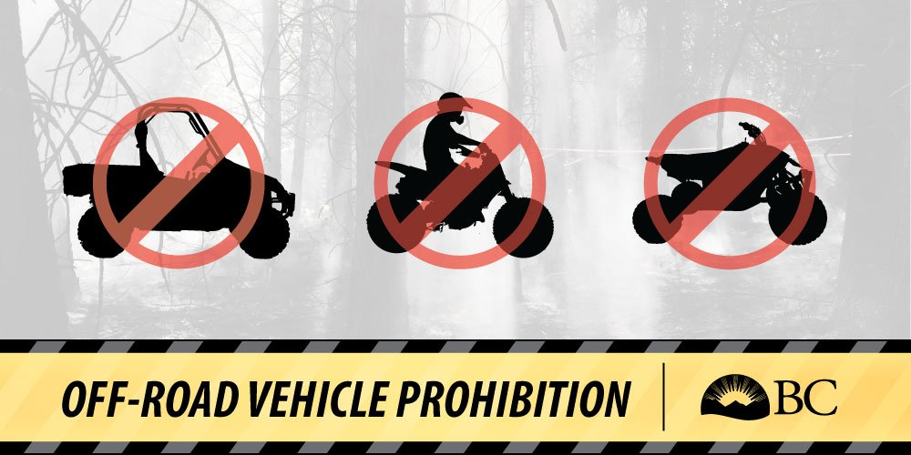 Off-road vehicles banned
